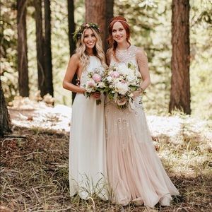 Show Me Your Mumu Dresses Amanda Maxi Dress Wedding Cake Chiffon